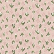 Lewis & Irene Flo's Wildflowers - 5437 - Lilly of the Valley on Pale Pink - FLO11.1 - Cotton Fabric